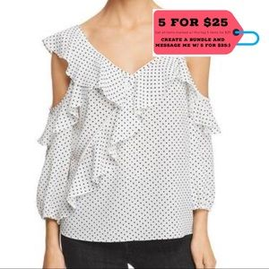 NWT Bailey 44 Polka Dot V-Neck Top